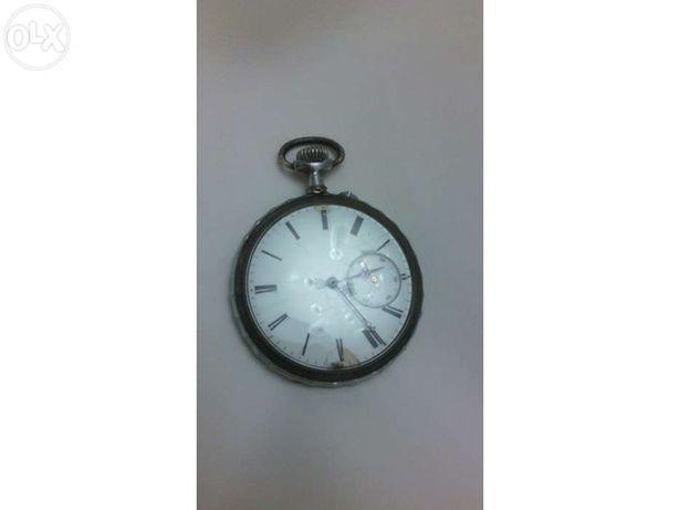 Relógio bolso prata antigo vintage