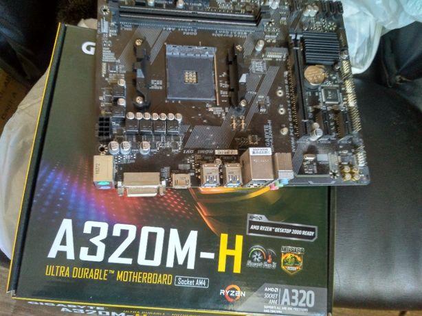 Материнская плата Gigabyte GA-A320M-H sAM4, AMD A320 -коробка