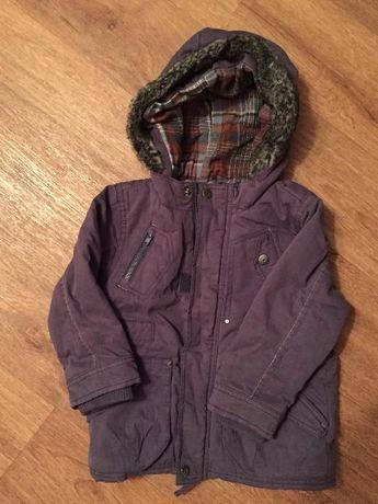зимняя куртка Next на мальчика 1,5-2 года б/у