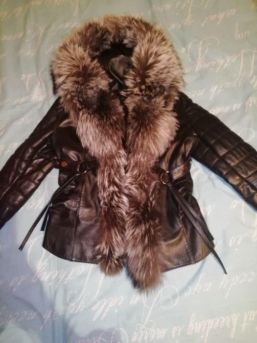 Кожаная куртка с мехом 42 44 р Вознесенск - изображение 1
