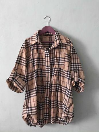 Рубашка как барберри бежевая