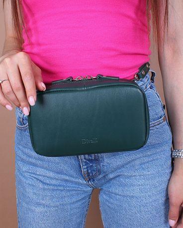 Skórzana torebka Emerald Mini na pas od Divalli
