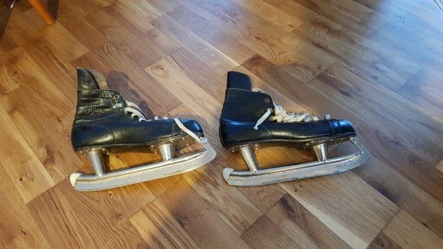 Łyżwy hokejowe hokejówki retro klasyk