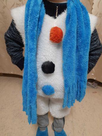 Костюм снеговика карнавальный новогодний снеговик