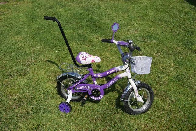 Rower dla dziewczynki rowerek 12 NOWY Różowy Fioletowy