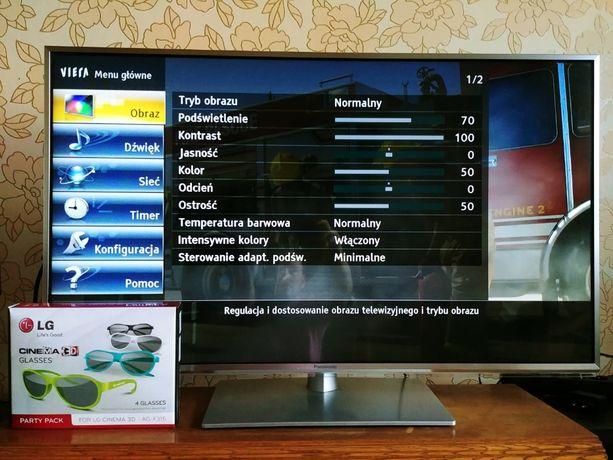 Telewizor Panasonic TX-L42ET60E 3D wraz z okularami LG 3D Glasses