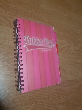 Różowy Pukkapad zeszyt w kratkę B5