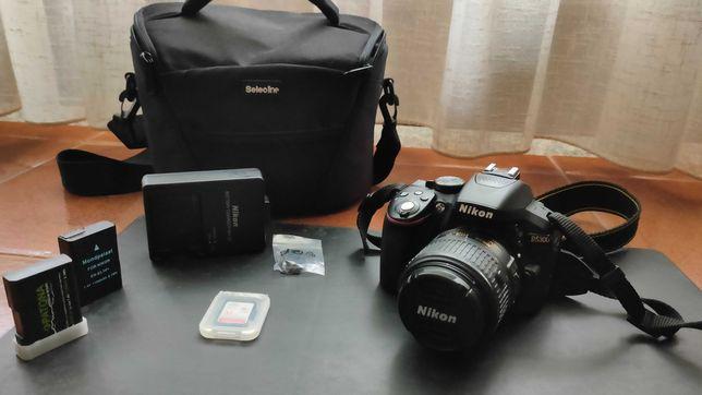 Nikon D5300 + 18/55 + SD 32 GB + Bolsa + 3 baterias