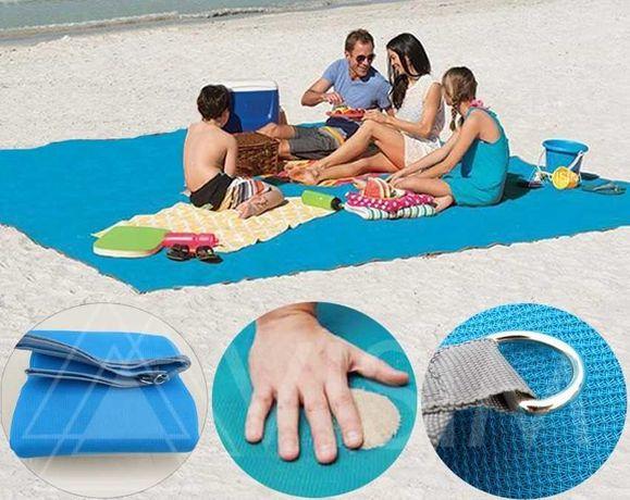 Пляжный коврик, подстилка Антипесок,  пляжное покрывало анти-песок