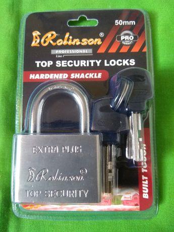 Литой противовзломный навесной замок - Rolinson top security - 50мм
