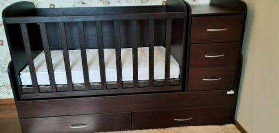 Детская деревянная кровать трансформер