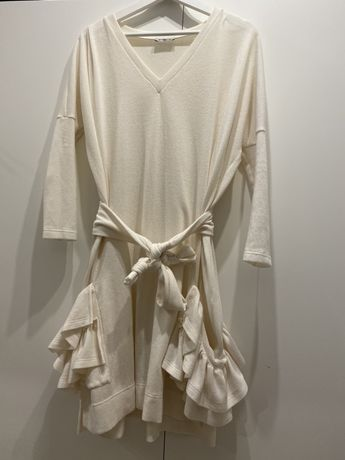 Sukienka chicaca sweterkowa 36 S wiazana paskiem