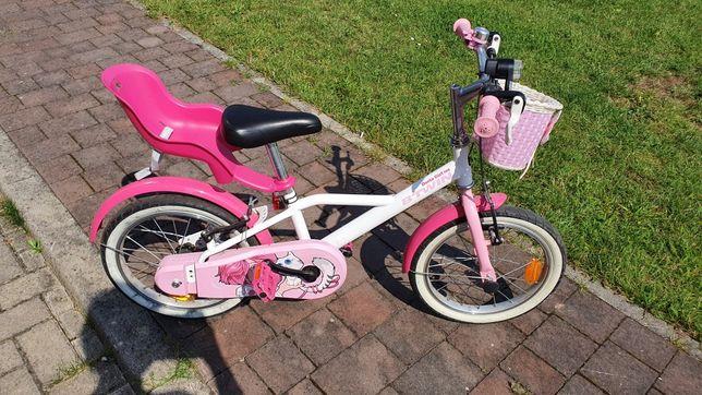 """Rower 500 Docto Girl 16"""" Jr Różowy Decathlon B'Twin"""