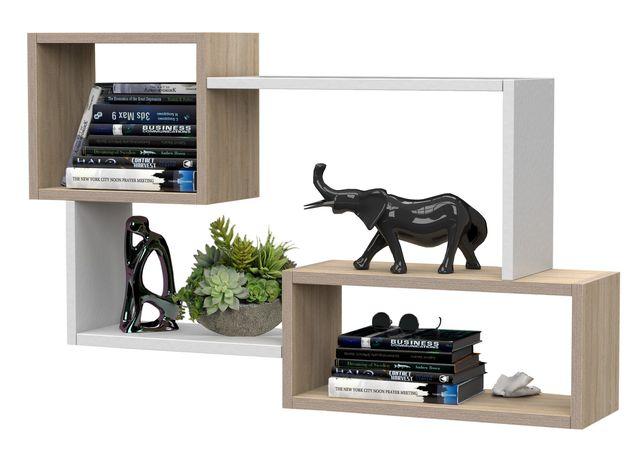 Nowoczesna półka na książki, wisząca, ścienna 87 cm