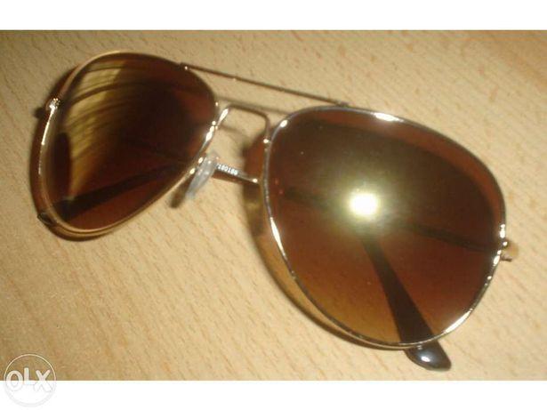 Óculos de Sol Aviator Dourado [Novo]