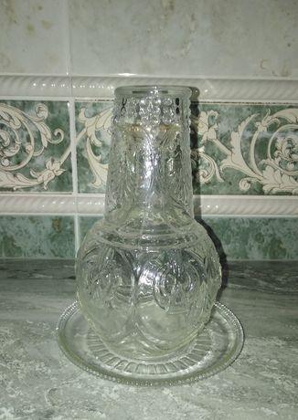 Garrafa de água de mesinha de cabeceira, anos 50