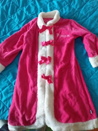 Szlafrok strój Mikołajki różowy