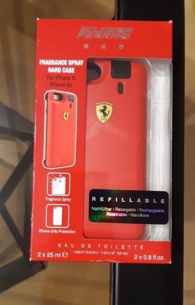 iPhone 6/6s Phone Case i woda toaletowa Refillable 2 x 25ml Ferrari re