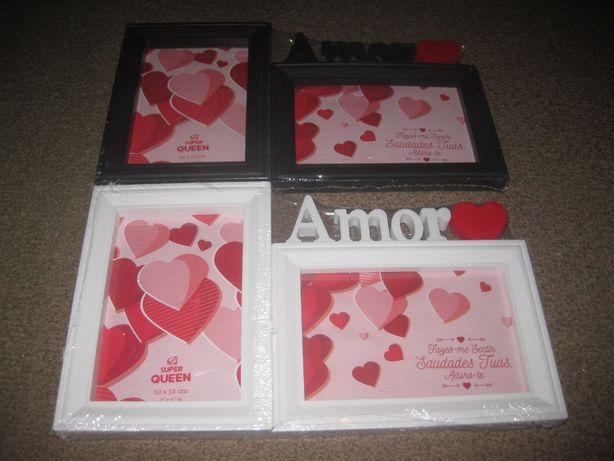 """2 Porta Fotos """"Amor"""" Novo e Embalado!"""