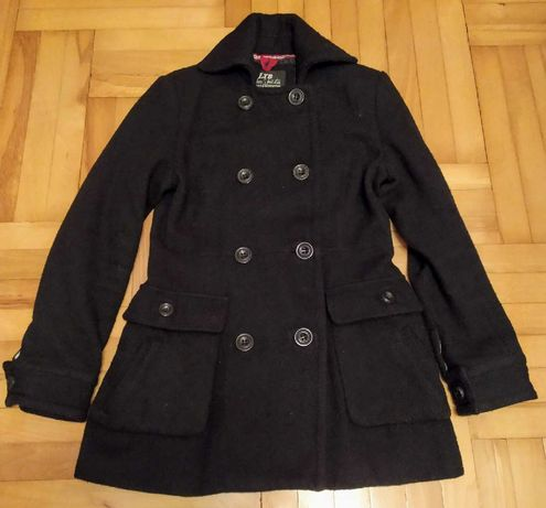 Płaszcz damski, czarny - LTB - rozmiar M