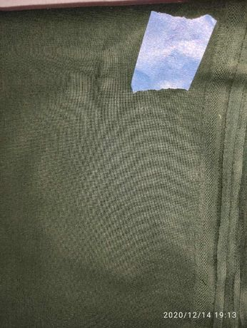 Tkanina materiał płótno bawełna zielony ciemnozielony butelkowy