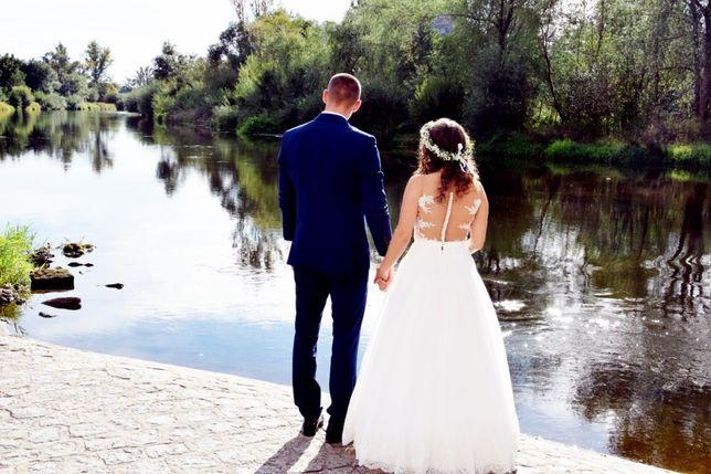 Przepiękna suknia ślubna rozmiar 36 (S)