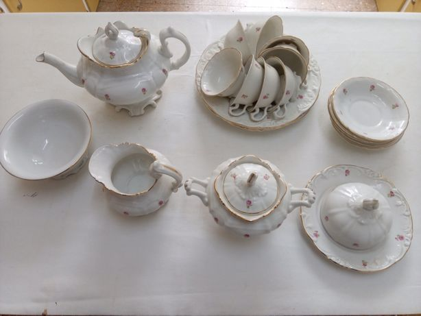 Serviço de chá Vista Alegre muito antigo