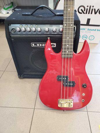 Wzmacniacz Combo Line 6 + Gitara Basowa  Hofner baron bass