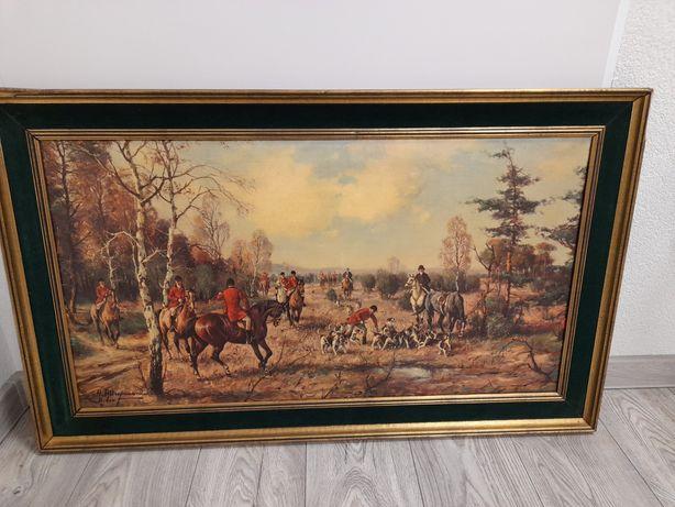 malowana reprodukcja obrazu Horsta Altermanna polowanie