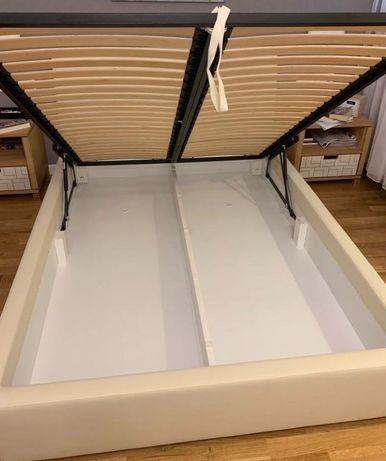 Łóżko podwójne ze skrzynia materac 140x200cm do 30km transport gratis