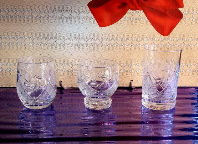 Хрустальні стакани Стаканы хрустальные
