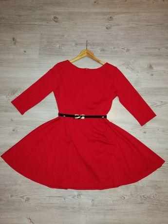 Czerwona sukienka Rigore rozmiar 38/M. Raz ubrana