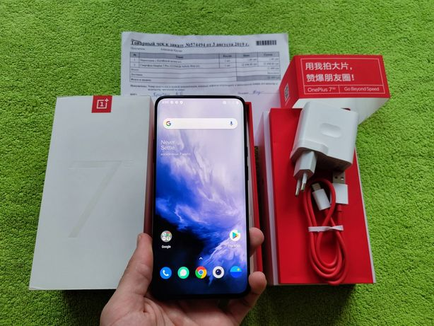 OnePlus 7 pro 12/256gb blue в идеале, полный комплект + чехол