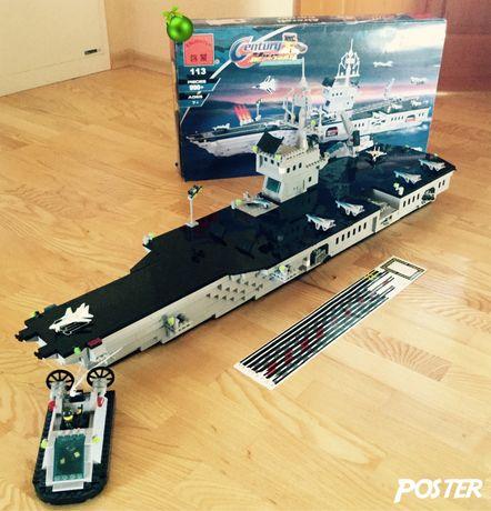 лего конструктор авианосец военный корабль brick 113