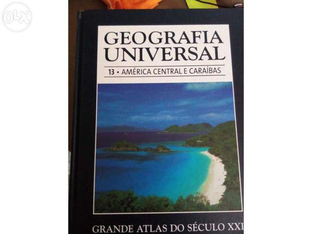Coleção de livros geografia universal- grande atlas do séc xxi