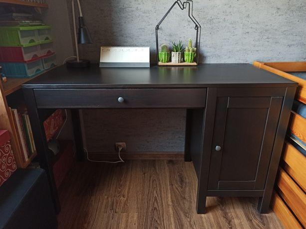 Biurko lite drewno Hemnes Ikea czarnybrąz