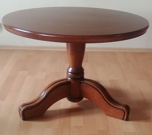 Lawa stół kawowy solidna ciężka z litego drwena bardzo zadbana 80cm