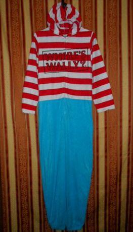 Пижама комбинезон слип флисовый размер S-44