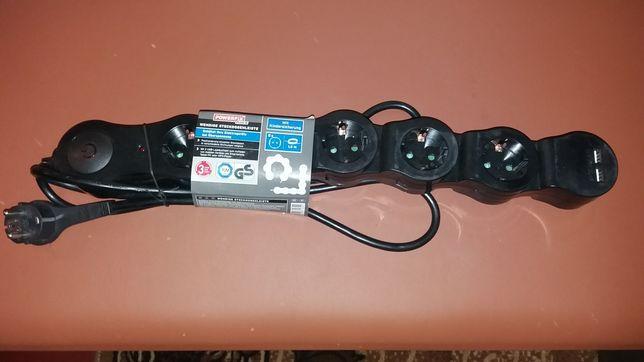 Сетевой фильтр с 2 × USB портами PowerFix Profi производства Германия