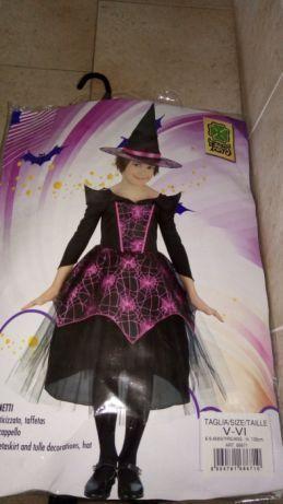 Fantasia bruxa Carnaval 5/6 anos