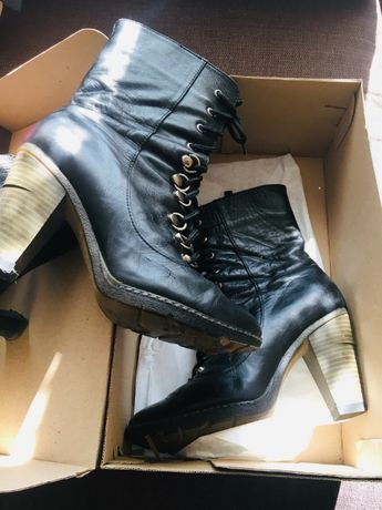 Ботінки натуральна шкіра,ботильйони,черевики,ботинки,ботильйоны кожа