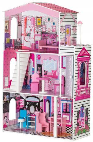 Большой деревянный кукольный домик Miami с лифтом домик барби 116см