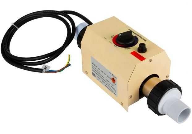 Aquecedor elétrico para piscinas ou spa de 2000 watts