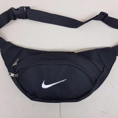 Бананка nike найк сумка на пояс через плечо поясная черная