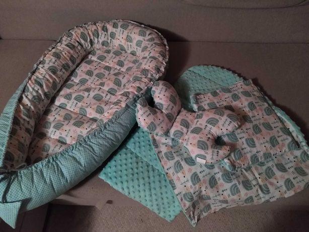 Kokon niemowlęcy 5w1 minki turkusowy