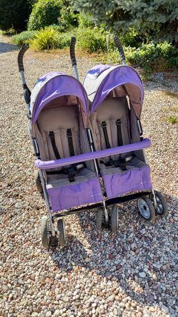 """Wózek bliźniaczy spacerówka """"parasolka"""" składany"""