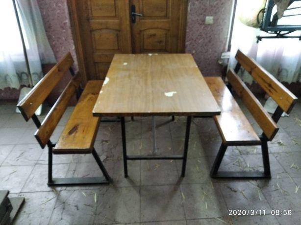 Комплект стол +скамейки