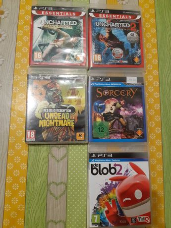 Gry Uncharted, Sorcery, Blob, Red Dead Redemption na konsole PS 3