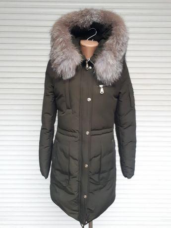 Зеленая зимняя куртка Чернобурка