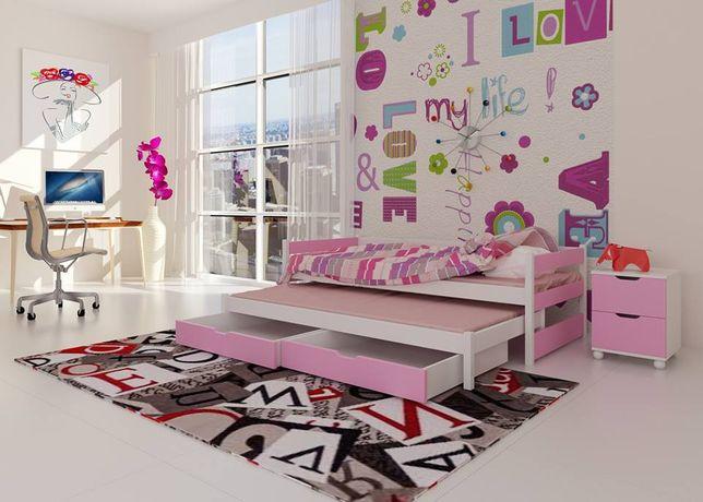 Podwójne łóżko dziecięce Tom z dwoma szufladami + materace !
